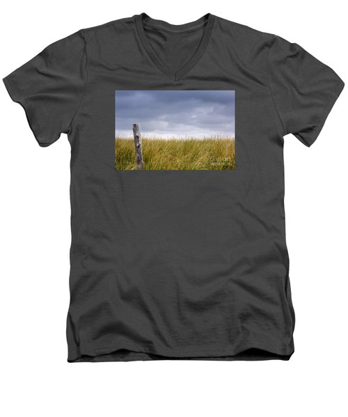 Men's V-Neck T-Shirt featuring the photograph That That Same Small Town In Each Of Us by Dana DiPasquale