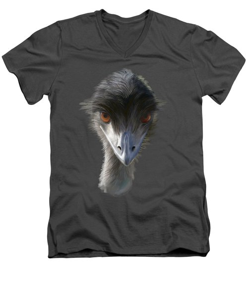 Suspicious Emu Stare Men's V-Neck T-Shirt