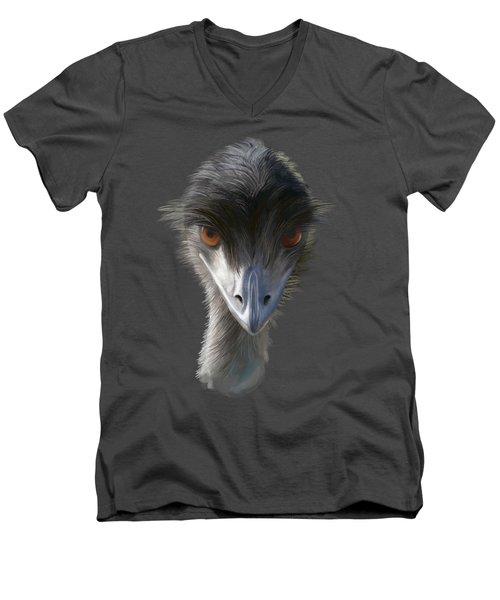 Suspicious Emu Stare Men's V-Neck T-Shirt