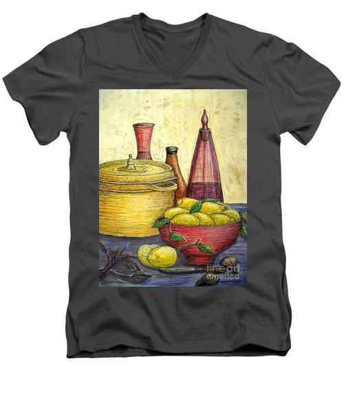 Sustenance Men's V-Neck T-Shirt by Kim Jones