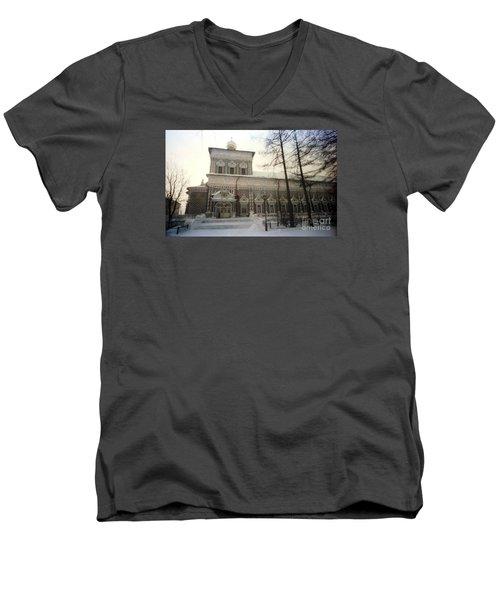 Suzdal  Russia Church Men's V-Neck T-Shirt by Ted Pollard