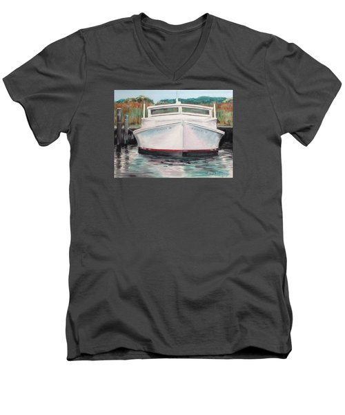 Men's V-Neck T-Shirt featuring the painting Suzie Q by Stan Tenney