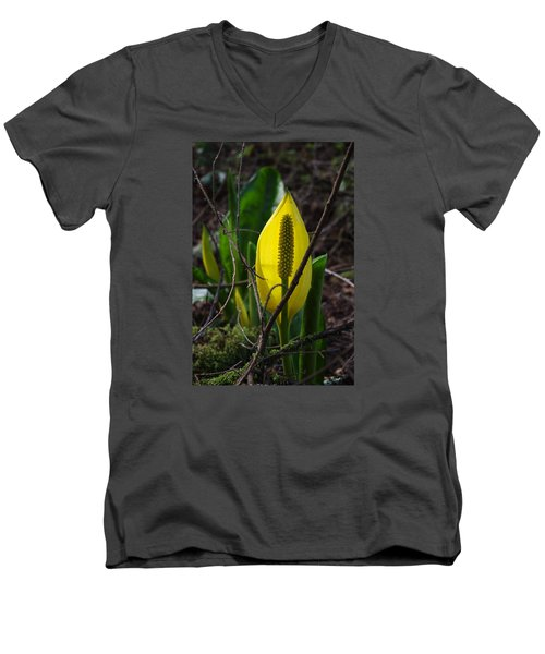 Men's V-Neck T-Shirt featuring the photograph Swamp Lantern by Adria Trail