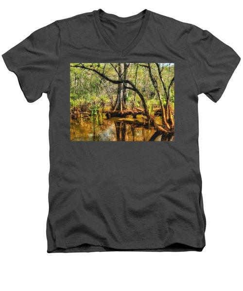 Swamp Life II Men's V-Neck T-Shirt