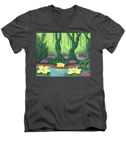 Swamp Things 02, Diptych Panel A Men's V-Neck T-Shirt