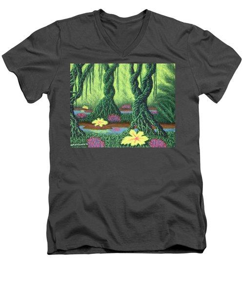 Swamp Things 02, Diptych Panel B Men's V-Neck T-Shirt