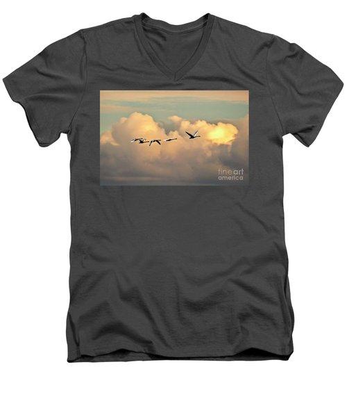 Swan Heaven Men's V-Neck T-Shirt
