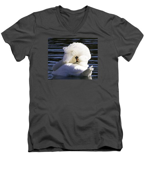 Swan Prince Men's V-Neck T-Shirt by Cathy Donohoue