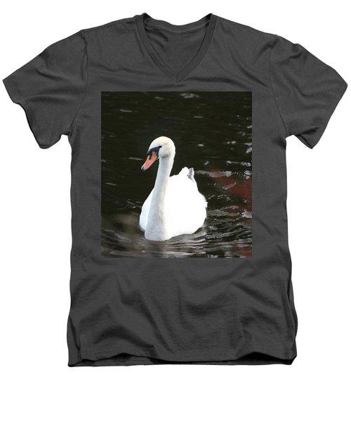 Swans-a-swimming Men's V-Neck T-Shirt