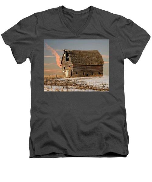 Swayback Barn Men's V-Neck T-Shirt by Kathy M Krause