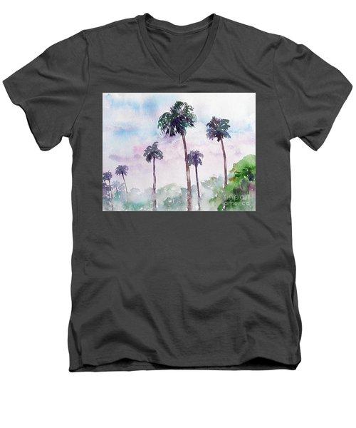 Swaying Palms Men's V-Neck T-Shirt