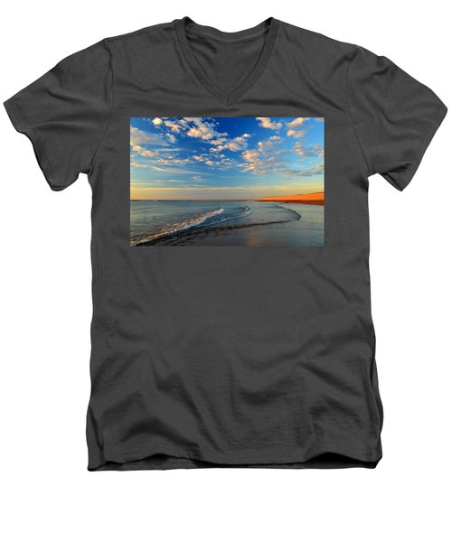 Sweeping Ocean View Men's V-Neck T-Shirt