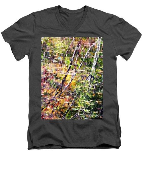 Raking Water  Men's V-Neck T-Shirt by Melissa Stoudt