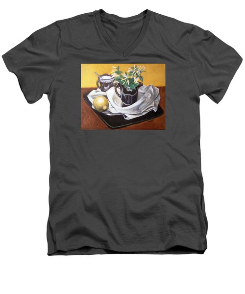 Sweet And Sour Men's V-Neck T-Shirt by Laura Aceto