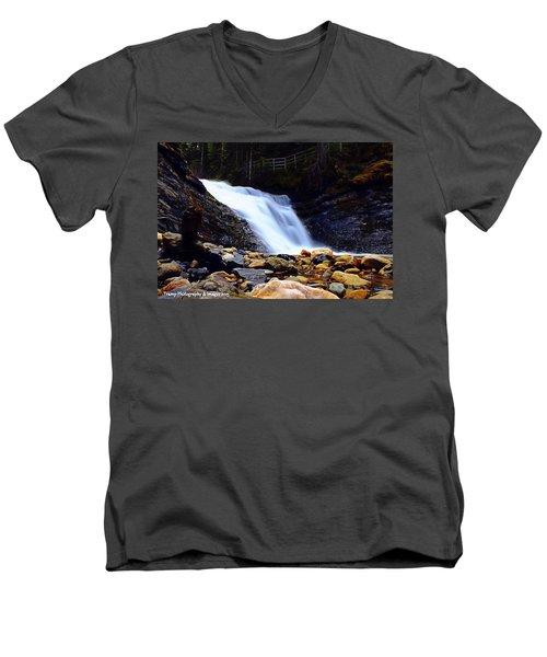 Sweet Creek Falls , Wa Men's V-Neck T-Shirt