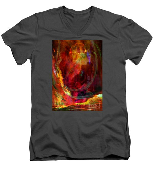 Men's V-Neck T-Shirt featuring the digital art Sweet Dream by Johnny Hildingsson
