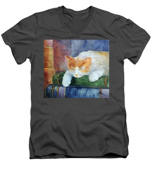 Sweet Dreams On The Books Men's V-Neck T-Shirt