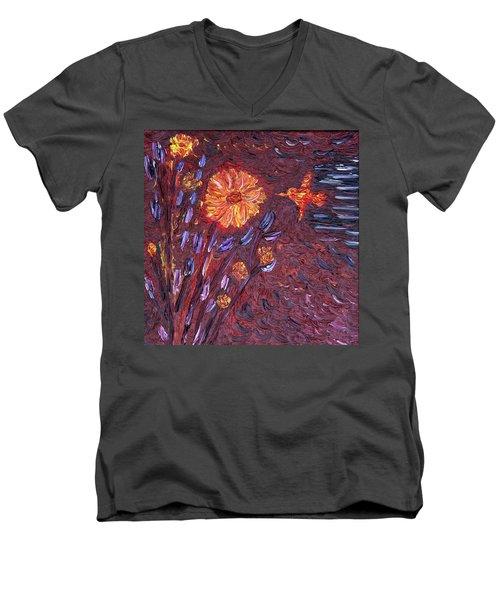Sweet Flower Men's V-Neck T-Shirt by Vadim Levin