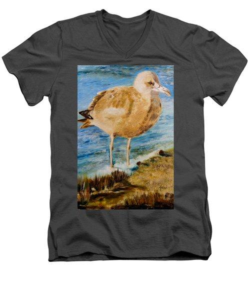 Sweet Gull Chick Men's V-Neck T-Shirt