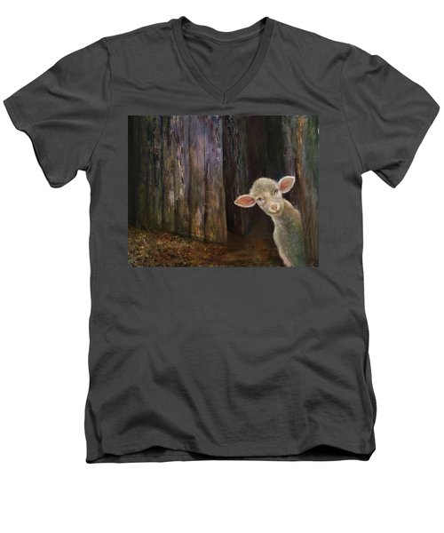 Sweet Lamb Men's V-Neck T-Shirt