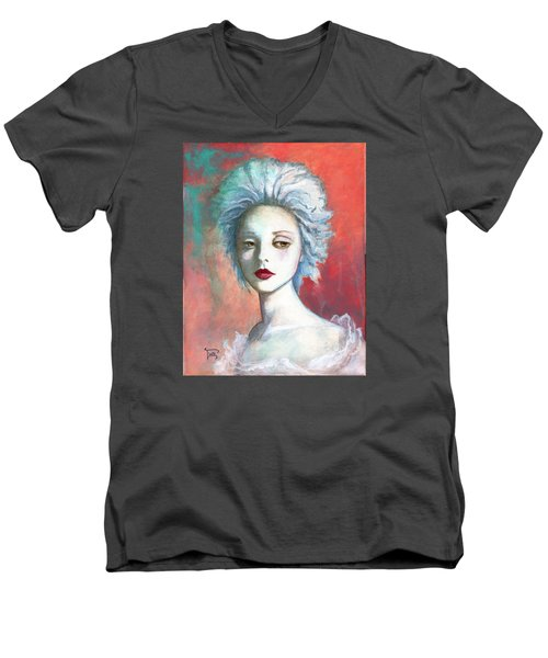 Men's V-Neck T-Shirt featuring the painting Sweet Love Remembered by Terry Webb Harshman