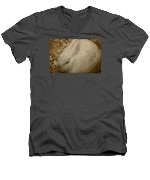 Sweet Marshmallow Men's V-Neck T-Shirt by The Art Of Marilyn Ridoutt-Greene