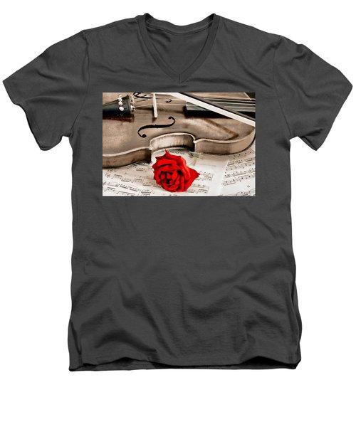 Sweet Music Men's V-Neck T-Shirt
