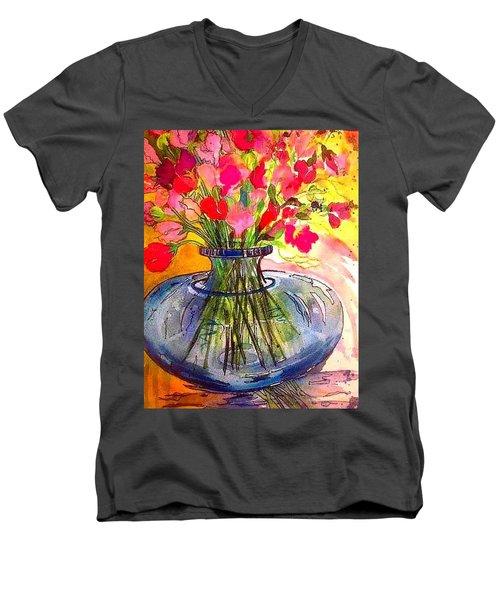 Sweet Peas Men's V-Neck T-Shirt