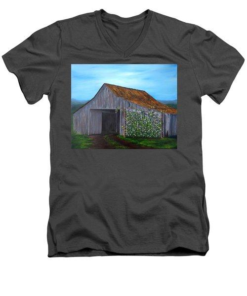 Sweet Peas Men's V-Neck T-Shirt by T Fry-Green