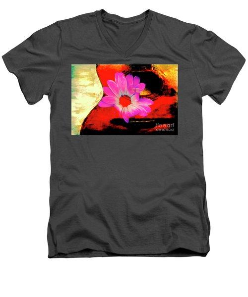 Sweet Sound Men's V-Neck T-Shirt by Al Bourassa