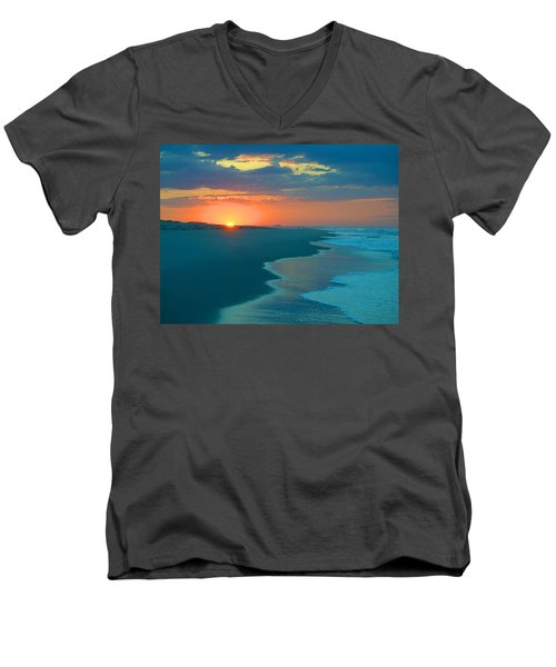 Men's V-Neck T-Shirt featuring the photograph Sweet Sunrise by  Newwwman
