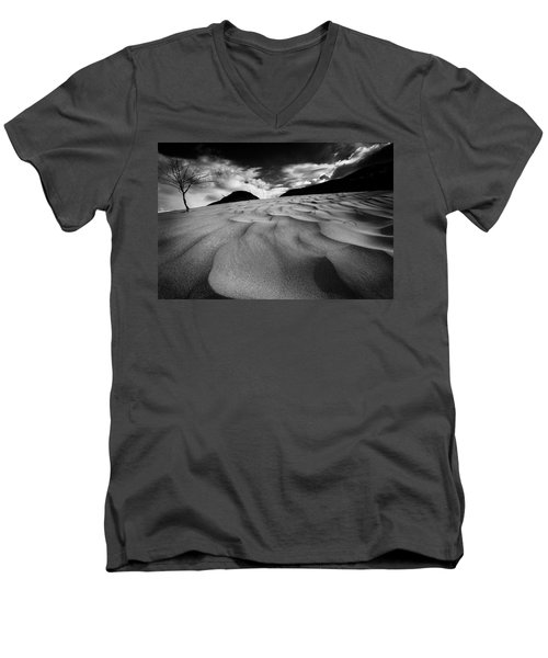 Men's V-Neck T-Shirt featuring the photograph Swerves And Curves In Jasper by Dan Jurak