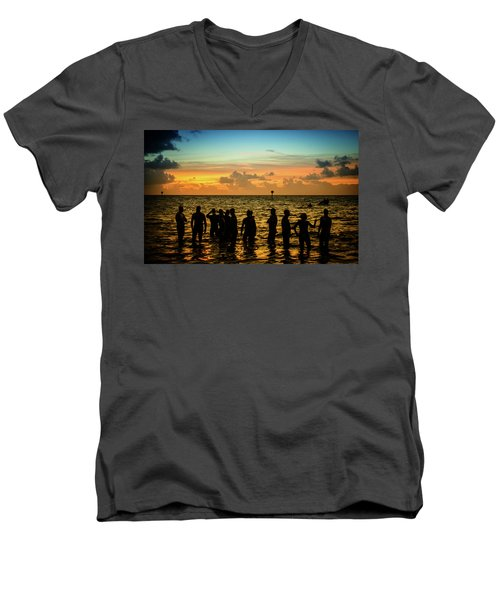 Swimmers Sunrise Men's V-Neck T-Shirt