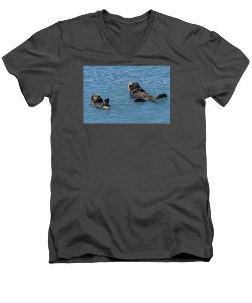 Swimming Lesson Men's V-Neck T-Shirt by Harold Piskiel