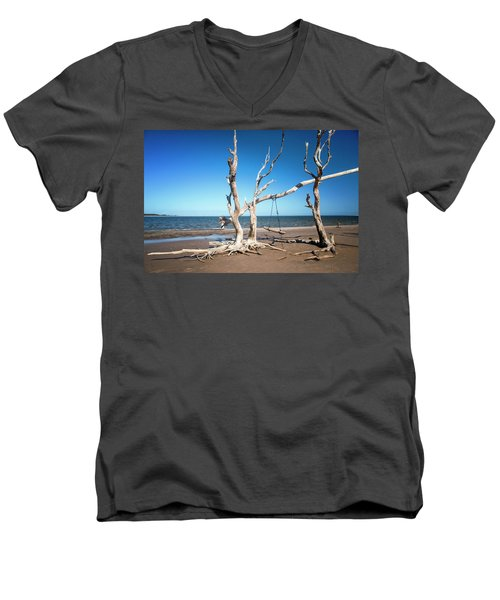 Swingin' At Low Tide Men's V-Neck T-Shirt