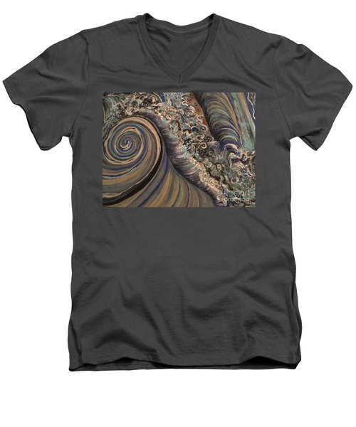 Swirl Men's V-Neck T-Shirt