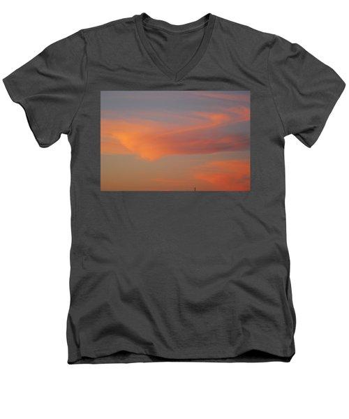 Swirling Clouds In Evening Men's V-Neck T-Shirt