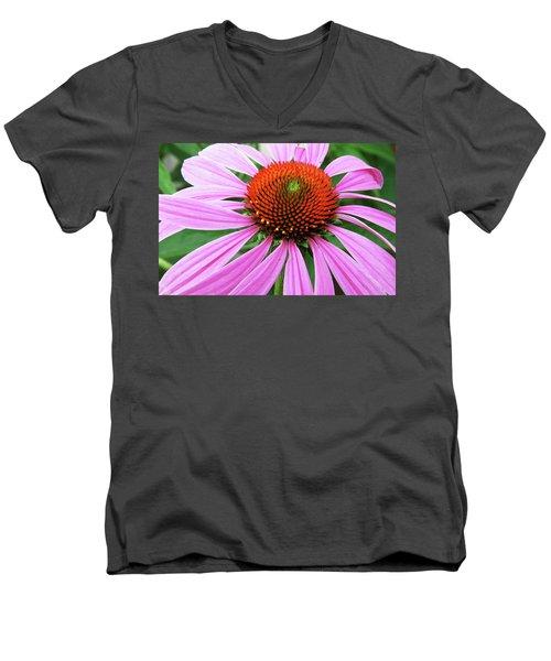 Swirling Purple Cone Flower 3576 H_2 Men's V-Neck T-Shirt