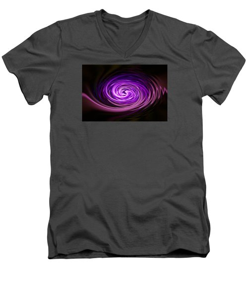 Men's V-Neck T-Shirt featuring the photograph Swirling Zig Zag Abstract by Penny Lisowski