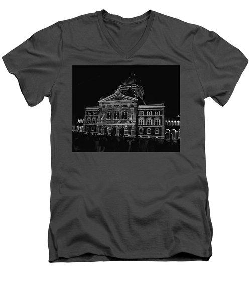 Swiss Parliament - Bern Men's V-Neck T-Shirt by Matt MacMillan