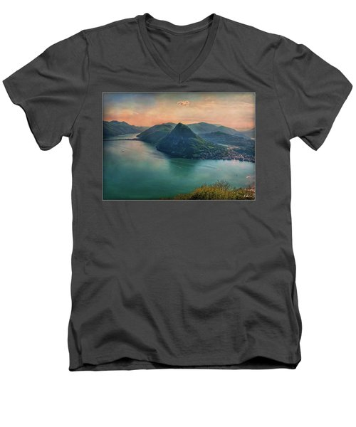 Men's V-Neck T-Shirt featuring the photograph Swiss Rio by Hanny Heim