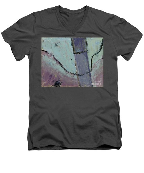 Men's V-Neck T-Shirt featuring the painting Swiss Roof by Paul McKey