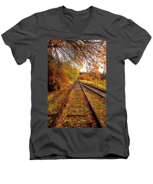 Switching To Autumn Men's V-Neck T-Shirt