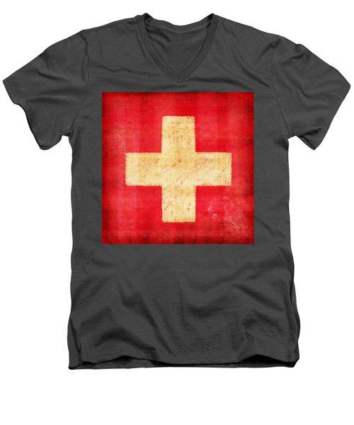 Switzerland Flag Men's V-Neck T-Shirt