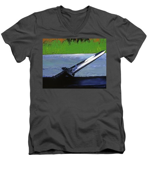 Sword Of Protection  Men's V-Neck T-Shirt