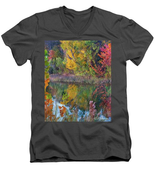 Sycamores And Willows Men's V-Neck T-Shirt by Tim Fitzharris