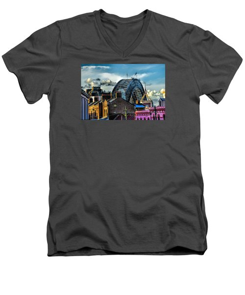 Sydney Harbor Bridge Men's V-Neck T-Shirt by Diana Mary Sharpton