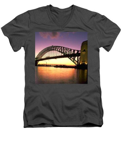 Sydney Harbour Bridge Men's V-Neck T-Shirt by Travel Pics