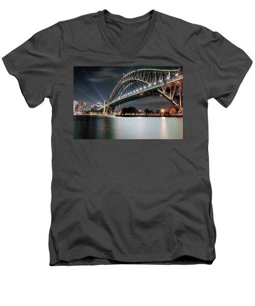 Sydney Harbour Lights Men's V-Neck T-Shirt