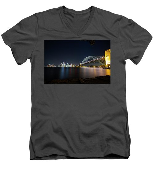 Sydney Harbour Silk Men's V-Neck T-Shirt